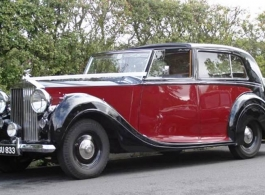 1940s Rolls Royce Silver Wraith for weddings in Maidstone